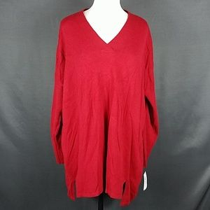 4/10- Large red style&co Oversized sweater new